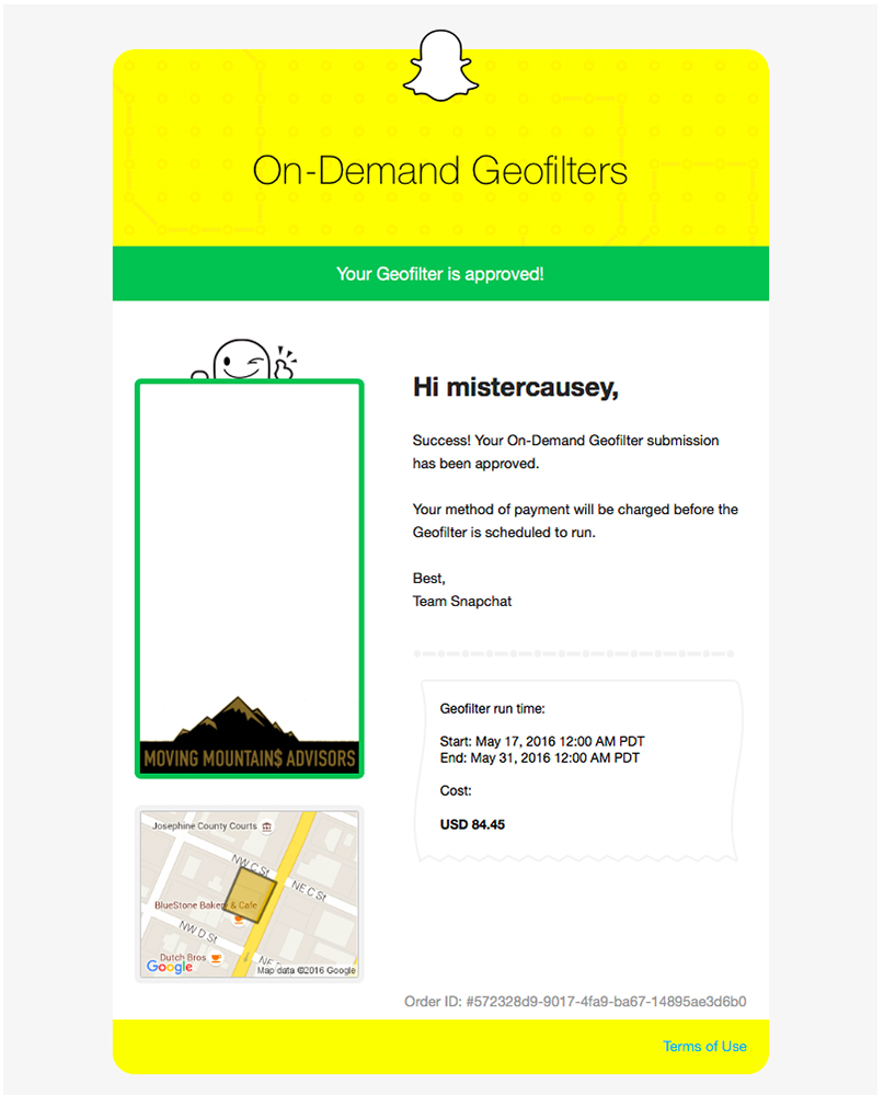 Snapchat Geofilter - Email Approved - Moving Mountains Advisors